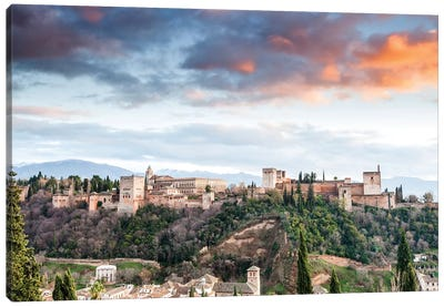 Alhambra - Granada, Andalusia, Spain II Canvas Art Print