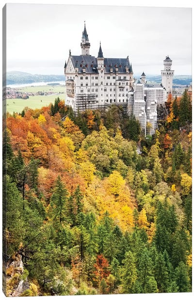 Newschwanstein Castle - Hohenschwangau, Bavaria, Germany II Canvas Art Print