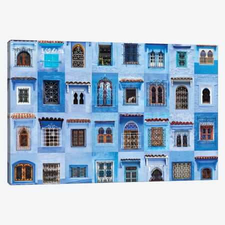 Windows of the World - Chefchaouen, Morocco Canvas Print #AVG37} by Andre Vicente Goncalves Canvas Print