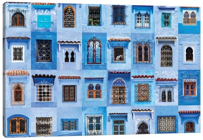 Windows of the World - Chefchaouen, Morocco Canvas Art Print