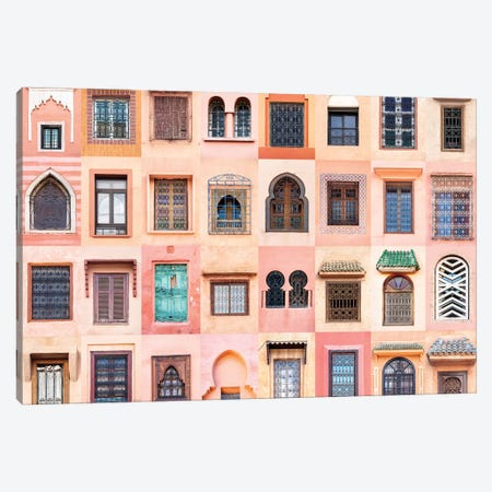 Windows of the World - Marrakesh, Morocco 3-Piece Canvas #AVG38} by Andre Vicente Goncalves Canvas Artwork