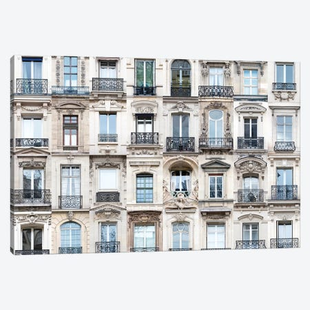 Windows of the World - Paris, France 3-Piece Canvas #AVG40} by Andre Vicente Goncalves Canvas Art Print
