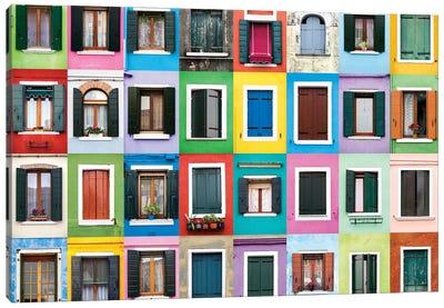 Windows of the World - Burano, Italy Canvas Art Print