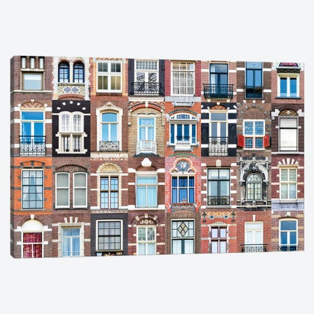 Windows of the World - Amsterdam, Netherlands Canvas Print #AVG43} by Andre Vicente Goncalves Canvas Art Print