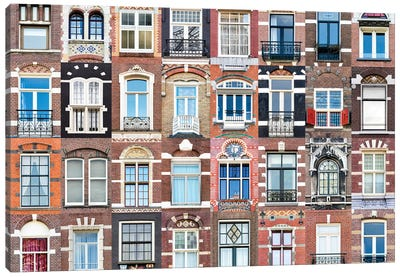 Windows of the World - Amsterdam, Netherlands Canvas Art Print