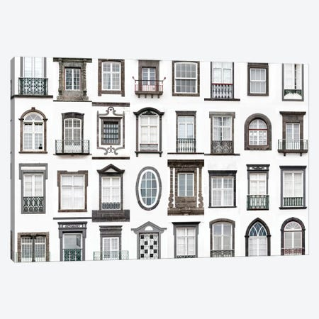 Windows of the World - Ponta Delgada, San Miguel, Azores, Portugal Canvas Print #AVG44} by Andre Vicente Goncalves Canvas Wall Art