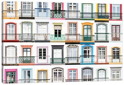 Windows of the World - Angra do Heroismo, Terceira, Azores, Portugal Canvas Art Print