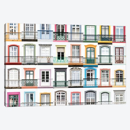 Windows of the World - Angra do Heroismo, Terceira, Azores, Portugal Canvas Print #AVG45} by Andre Vicente Goncalves Canvas Wall Art