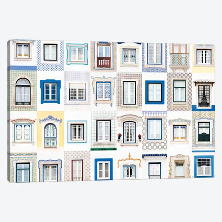 Windows of the World - Ericeira, Portugal Canvas Print #AVG47} by Andre Vicente Goncalves Canvas Artwork