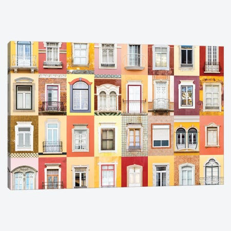 Windows of the World - Faro, Portugal Canvas Print #AVG48} by Andre Vicente Goncalves Canvas Art Print