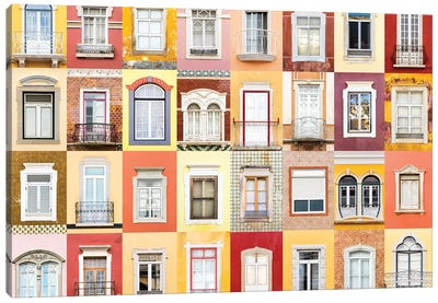 Windows of the World - Faro, Portugal Canvas Art Print