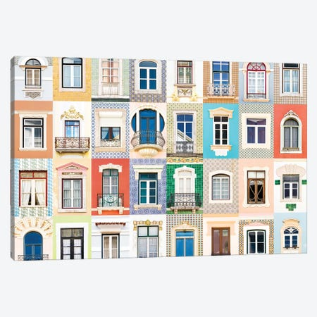 Windows of the World - Figueira da Foz, Portugal Canvas Print #AVG49} by Andre Vicente Goncalves Canvas Print