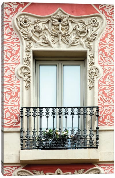 Balcony - Barcelona, Catalonia, Spain Canvas Art Print
