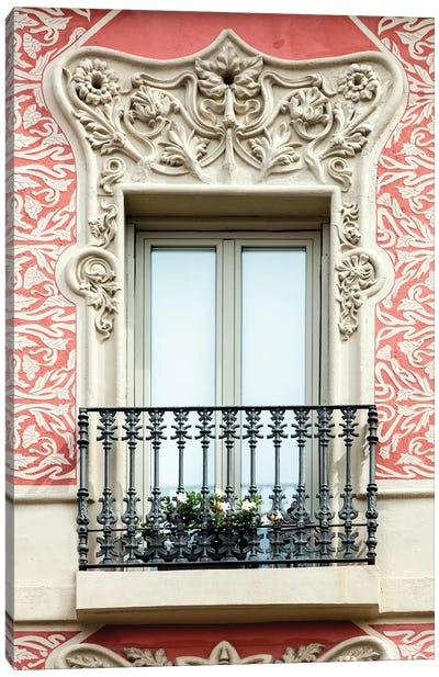 Balcony - Barcelona, Catalonia, Spain Canvas Art Print