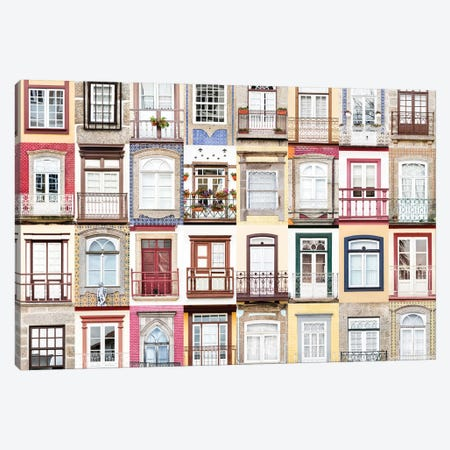 Windows of the World - Guimaraes, Portugal Canvas Print #AVG50} by Andre Vicente Goncalves Canvas Wall Art