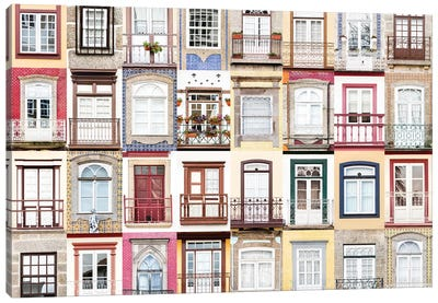Windows of the World - Guimaraes, Portugal Canvas Art Print