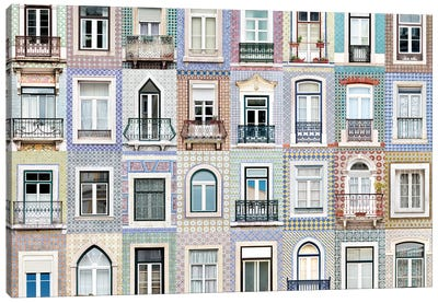Windows of the World - Lisbon, Portugal Canvas Art Print