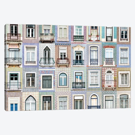 Windows of the World - Lisbon, Portugal Canvas Print #AVG51} by Andre Vicente Goncalves Canvas Wall Art