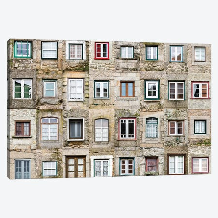 Windows of the World - Monsanto, Portugal Canvas Print #AVG52} by Andre Vicente Goncalves Canvas Wall Art