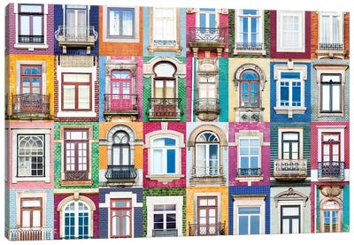 Windows of the World - Porto, Portugal Canvas Art Print