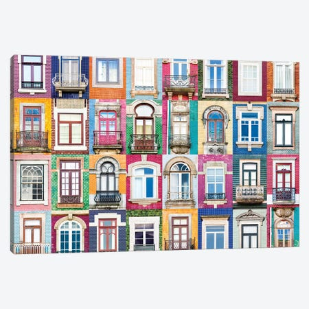 Windows of the World - Porto, Portugal Canvas Print #AVG54} by Andre Vicente Goncalves Canvas Art Print