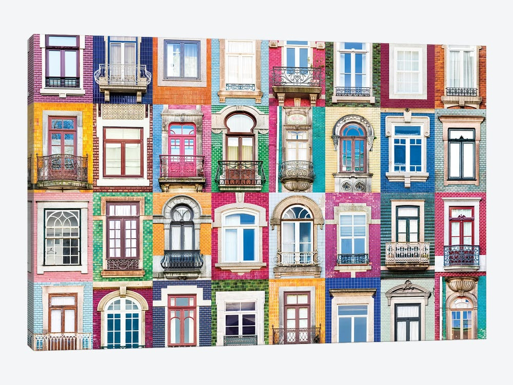 Windows of the World - Porto, Portugal by Andre Vicente Goncalves 1-piece Canvas Art