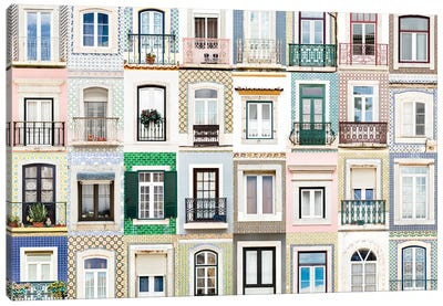 Windows of the World - Sesimbra, Portugal Canvas Art Print