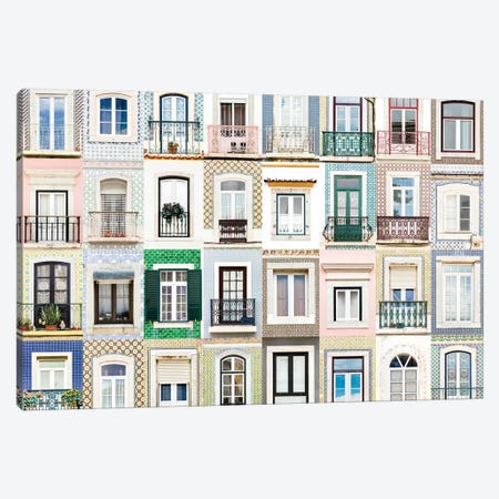 Windows of the World - Sesimbra, Portugal Canvas Print #AVG55} by Andre Vicente Goncalves Art Print
