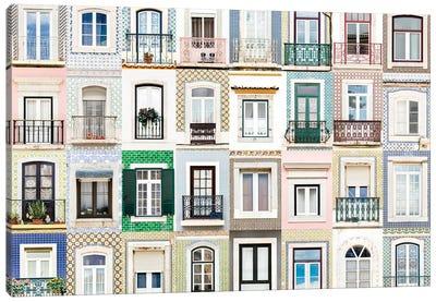 Windows of the World - Sesimbra, Portugal Canvas Art Print