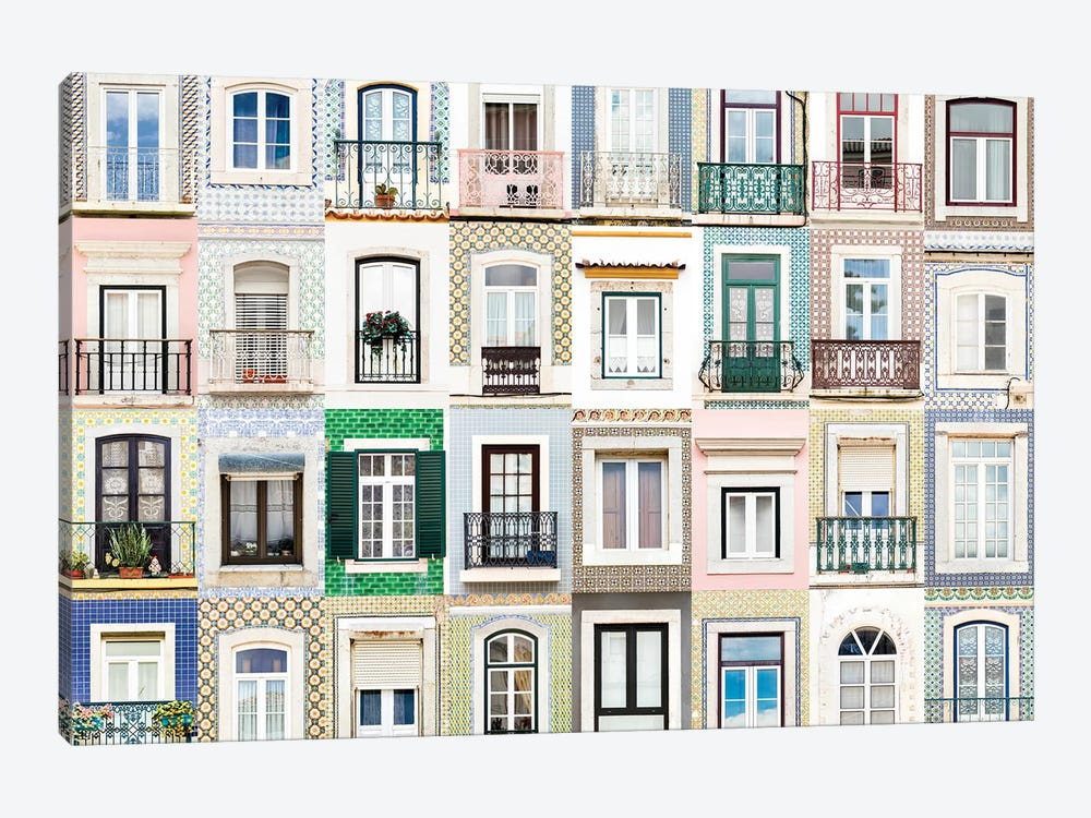 Windows of the World - Sesimbra, Portugal by Andre Vicente Goncalves 1-piece Canvas Art Print