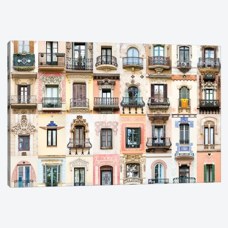 Windows of the World - Barcelona , Spain Canvas Print #AVG58} by Andre Vicente Goncalves Canvas Artwork