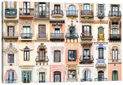 Windows of the World - Barcelona , Spain Canvas Art Print