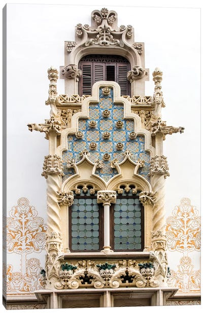 Balcony - Palau Macaya - Barcelona, Catalonia, Spain Canvas Art Print