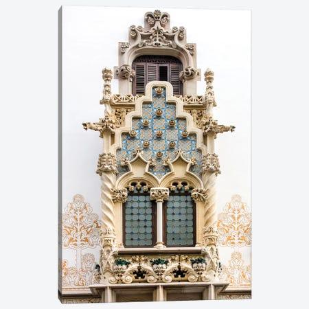 Balcony - Palau Macaya - Barcelona, Catalonia, Spain Canvas Print #AVG5} by Andre Vicente Goncalves Canvas Artwork