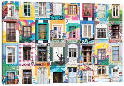 Windows of the World - Valparaiso, Chile Canvas Art Print