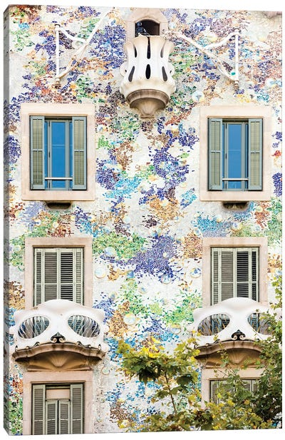 Casa Batllo Barcelona, Catalonia, Spain Canvas Art Print