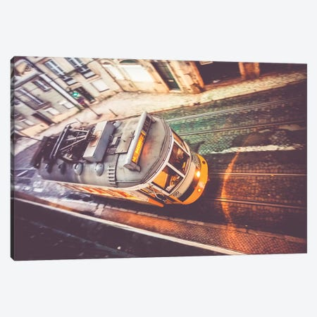 Historical Tram Alfama Sao Vicente Lisbon, Portugal Canvas Print #AVG68} by Andre Vicente Goncalves Canvas Print