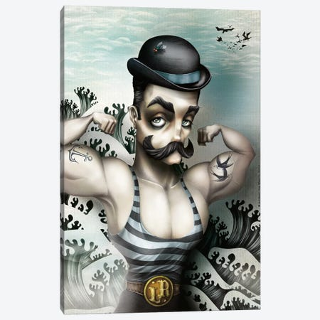 Le Redoutable Canvas Print #AVK13} by Antenor Von Khan Canvas Wall Art