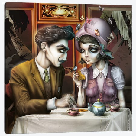 Little Coffe Canvas Print #AVK14} by Antenor Von Khan Canvas Print