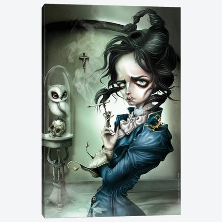 Sometimes Miss Ives Smokes ! Canvas Print #AVK21} by Antenor Von Khan Art Print