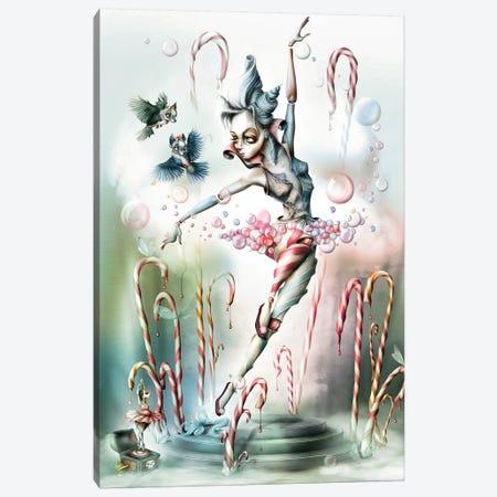 Sugar Bubbles's Game In A Small Garden Canvas Print #AVK22} by Antenor Von Khan Canvas Print