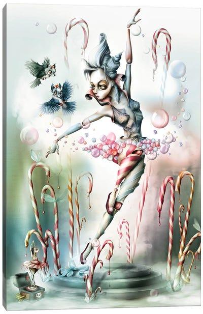 Sugar Bubbles's Game In A Small Garden Canvas Art Print