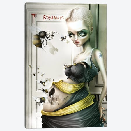Rosemary, The Queen Bee Canvas Print #AVK32} by Antenor Von Khan Canvas Artwork