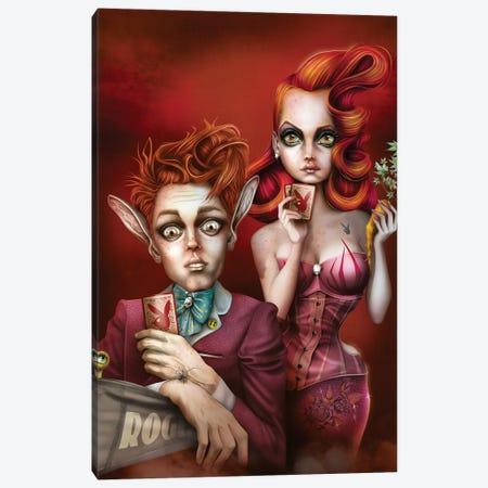 Strip Poker Canvas Print #AVK34} by Antenor Von Khan Art Print