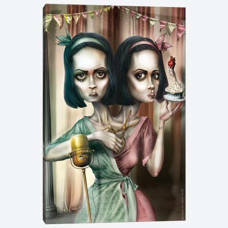 Bette & Dot Tattler (Oooh… Do You Want A Cupcake) Canvas Print #AVK3} by Antenor Von Khan Art Print