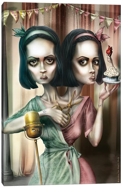Bette & Dot Tattler (Oooh… Do You Want A Cupcake) Canvas Art Print