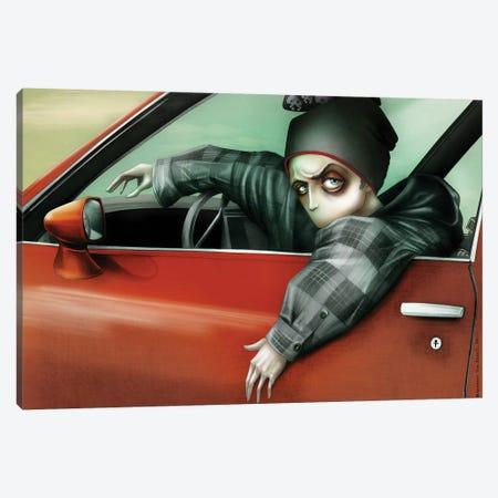 Drivin' My Car, Jessie Pinkman Canvas Print #AVK8} by Antenor Von Khan Canvas Art Print