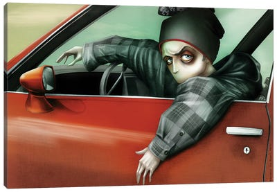 Drivin' My Car, Jessie Pinkman Canvas Art Print