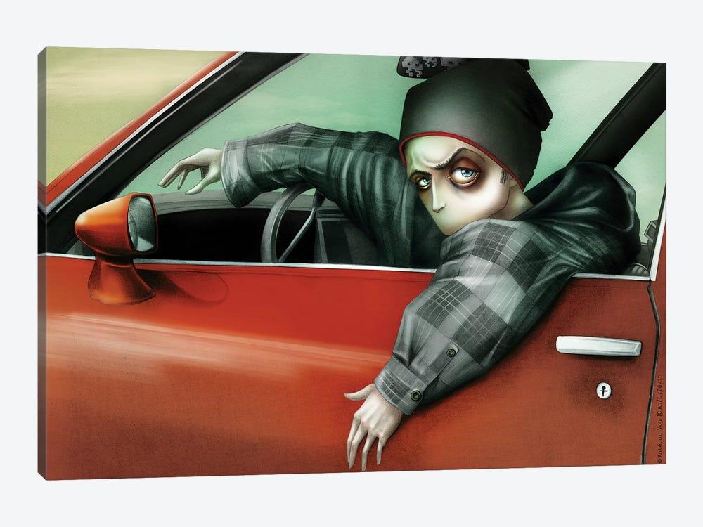 Drivin' My Car, Jessie Pinkman by Antenor Von Khan 1-piece Canvas Art Print