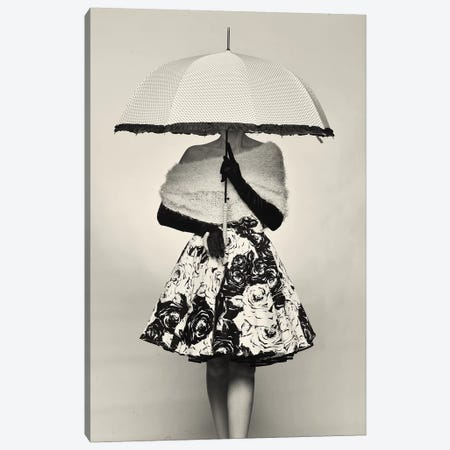 A Girl With An Umbrella 3-Piece Canvas #AVL1} by Avshalom Levi Canvas Art